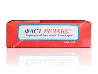 Фаст Релакс крем 25 г Indian Herbs Rescarch & supply